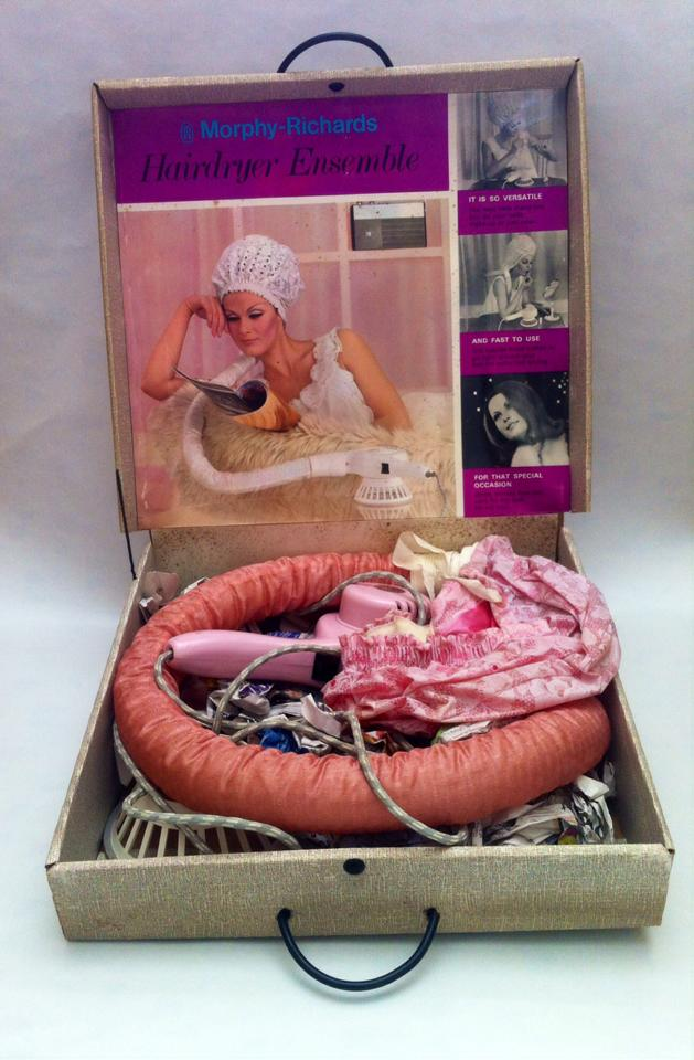 Morphy Richards Hairdryer Ensemble, one of the objects of display at the exhibition.