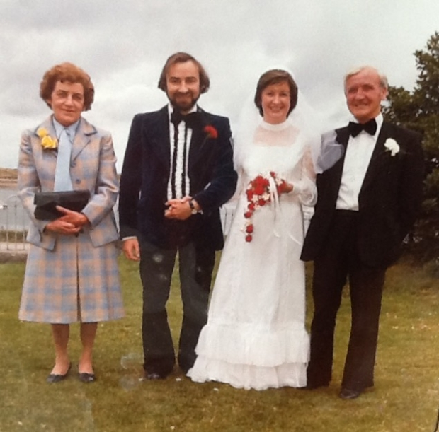 Jennifer & Patrick Meehan on their wedding day, 18 July 1978. Pictured with Jennifer's parents, Kevin & Kathleen Byrne.