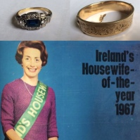 Kay Johnson's engagement ring and bracelet worn on her cover of Woman's Way magazine after she won the Housewife of the Year competition in 1967.