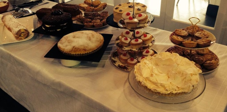 Some of the 1960s-inspired cakes baked by Elaine of the Press Café for the opening night of the exhibition at the National Print Museum.