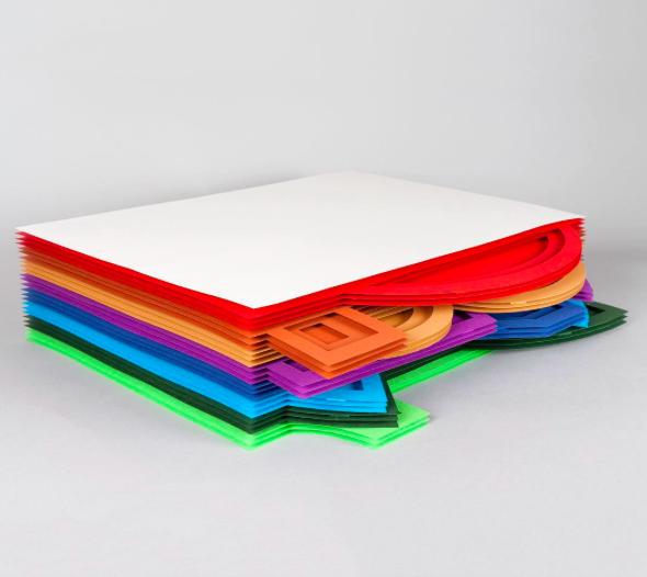 8 categories, 8 colours, 4 layers/colour. Photo credit: Julianna Szabo on Instagram (@juliannaszabo)