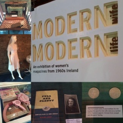 Some of the crowd-sourced objects on display at the exhibition at the National Print Museum. These items have also been digitised for inclusion in the People's Archive