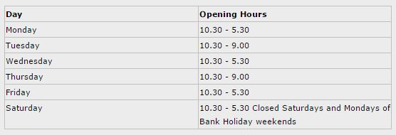 Wexford Town Library opening hours
